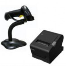 Epson TM-T88VI-581 Thermal Receipt Printer Built-in Ethernet, USB, Serial, With PSU & Alogic 1M power Cable bundled with Birch Barcode scanner