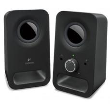 Logitech Speaker System 2.0, Z150, Black, Headphone Jack, 3.5mm Input, 6W RMS (Peak Power)