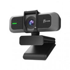 J5create USB 4K Ultra HD Webcam Model: JVU430 - Support 4K at 30FPS or 1080P at 60FPS - Ideal for Live streaming