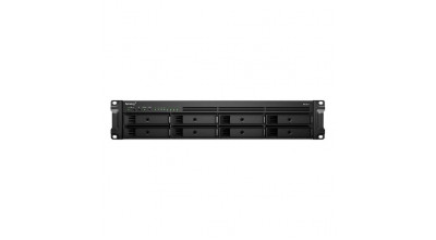 Synology RackStation RS1221+ 8-Bay 3.5 inch Diskless 4xGbE NAS (2U Rack), AMD Ryzen Quad Core 2.2GHz, 4GB RAM, 2xUSB3, 3 year Wty - Short Depth NAS