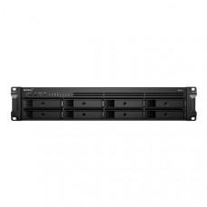 Synology RackStation RS1221RP+ 8-Bay 3.5 inch Diskless 4xGbE NAS (2U Rack), AMD Ryzen Quad Core 2.2GHz, 4GB RAM, 2xUSB3, 3 year Wty - Short Depth NAS