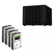 Synology Bundle - DS918+ x 1 NAS +  Seagate Ironwolf 6TB HDDs x 4