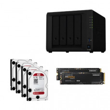 Synology Ultima Bundle - DS918+ x 1 NAS +  WD Red 6TB HDDs x 4 + Samsung M.2 NVMe 500GB x 2