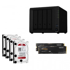 Synology Ultima Bundle - DS918+ x 1 NAS +  WD Red 4TB HDDs x 4 + Samsung M.2 NVMe 500GB x 2