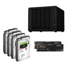 Synology Ultima Bundle - DS918+ x 1 NAS +  Ironwolf 4TB HDDs x 4 + Samsung M.2 NVMe 500GB x 2