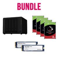 Synology Ultima Bundle - DS920+ x 1 NAS +  Seagate Ironwolf 4TB HDDs x 4 + Synology SSD SNV3400-400G x 2