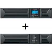 **LIMITED TIME OFFER** ION F18-3000VA/2700W Rack/Tower Online Double Conversion UPS with ION FEBM-720 Extended Battery Module and FREE Rail Kit