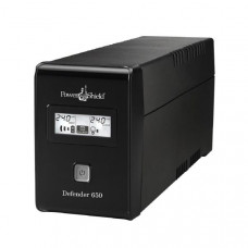 PowerShield Defender 650VA / 390W Line Interactive UPS with AVR, 2 x Australian Outlets and user replaceable batteries.