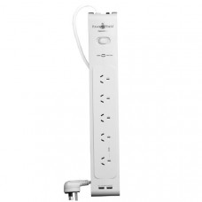 PowerShield ZapGuard 5 Way Power Surge Filter Board  - Five Power outlets + 2 x USB Charging Current 3.1 Amps - Bundle Availlable!
