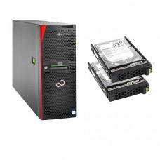 Bundle Fujitsu TX2550 M4, XEON Silver 4110 8C (1/2), 16GB DDR4 (1/24), DVD-RW, EP420i, RMK, 800W (2/2), TOWER, 3YR ONSITE, 2 x 600GB SAS 10K