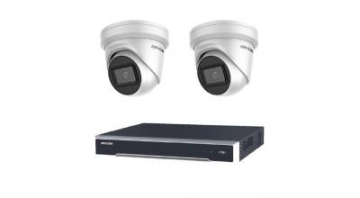 Bundle 001 -  Hikvision NVR DS-7608NI-I2-8P-3TB x 1 + 2 x DS-2CD2365G1-I-2 Turret Camera
