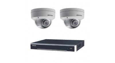 Bundle 002 -  Hikvision NVR DS-7608NI-I2-8P-3TB x 1 + 2 x DS-2CD2185FWD-I-2 Dome Camera
