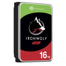 Seagate Iron Wolf PRO NAS  Internal 16TB HDD, SATA 6Gb/s, 1.2M hours MTBF, 5-year limited warranty.