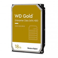 WD Gold Enterprise Hard Drive, 18TB, SATA 6 Gb/s, 7200 RPM, 3.5in, 512MB Cache, 5 Year Warranty