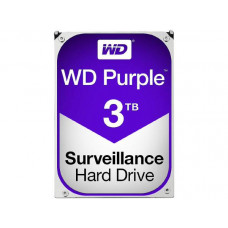 WD HDD 3.5 inch Internal SATA 3TB Purple, Variable RPM, 3 Year Warranty - WD30PURZ
