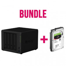 Synology NAS Starter kit for a Multimedia Hub - DS418Play (4Bay) x 1 + Seagate IronWolf ST4000VN008 4TB x 4 NAS Hard Drives