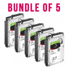 Bundle 5 x Seagate IronWolf NAS HDD 3.5 inch Internal SATA 4TB NAS HDD, 5900 RPM, RV Sensors, 3 Year Warranty