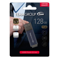 TEAM C211 USB3.2 Gentleman Grey Flash 128GB Lifetime Warranty