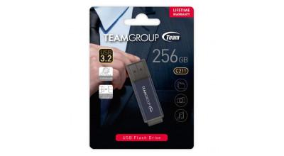 TEAM C211 USB3.2 Gentleman Grey Flash 256GB Lifetime Warranty