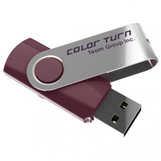 Team Group USB Drive 4GB, Colour Turn, USB2.0, Purple & Silver, Rotating, Capless, 15MB/s Read*, 11g, Lifetime Warranty