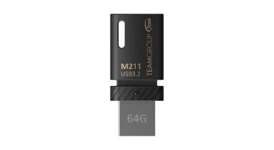 TEAM M211 OTG USB3.2 Dual Head USB Drive 64GB