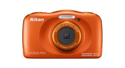 Nikon Digital Compact Camera COOLPIX W150, Orange,13.2MP, 3x Optical Zoom, Fixed Lense, f/3.3-5.9, 10m Waterproof