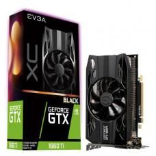 EVGA Geforce GTX1660Ti Black XC Gaming Graphics Card, 6GB GDDR6, PCIE, Full Height, HDB Fan, DP, HDMI, DVI-D, Max 3 Outputs