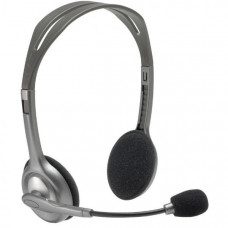 Logitech Wired Analog Headset H110, MIC, Silver, Stereo