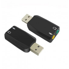Shintaro USB Audio Adaptor with 3.5mm Headphone and Microphone Jack - Convert 3.5mm headset to USB headset