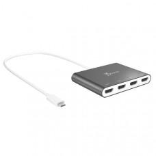 J5create JCA366 USB-C to 4-Port Quad HDMI Multi-Monitor Adapter (1 x USB-C to 4 x HDMI Max Resolution 1920 x 1080 @ 60 Hz)