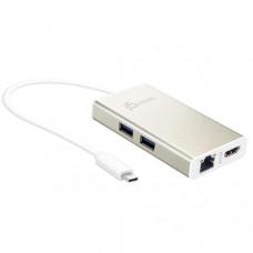 J5create JCA374 USB-C TYPE-C Multi adapter - (USB-C to 2 x USB 3.0, Gigabit Ethernet port, HDMI)