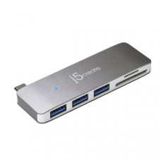 J5ceate JCD348 USB-C 5-in-1 UltraDrive (USB-C to 3 x USB-A 3.0, SD/microSD card reader)