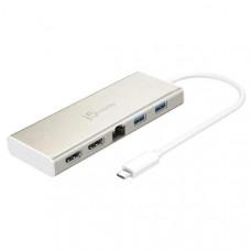 J5create JCD381 USB-C Dual HDMI 2k/4k Mini Dock (USB-C to 2 x HDMI, Gigabit Ethernet RJ-45, 2 x USB 3.0)