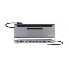 Kramer KDOCK-4 Triple display USB-C docking station - USB-C to HDMI/DP/VGA, RJ45/ 2 x USB 3.0/USB 2.0/SD/microSD/PD/3.5AUX/ PD3.0 100 Watt passthrough