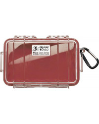 Pelican 1040 Micro Case - Clear with Red
