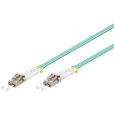 Shintaro Fibre Patch Cable Multimode LC to LC OM3 Aqua 0.5m