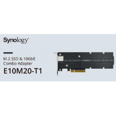 Synology E10M20-T1 - M.2 SSD & 10GbE Combo Adapter - 5 year Warranty - Select Models only
