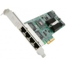 Fujitsu Intel I350-T4 Quad 1Gb Ethernet Adapter, includes Low Profile and Full Height Brackets