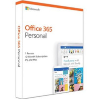 Microsoft Office 365 Personal QQ2-00982 , License Software, 1 Year Subscription, 1 Device, 32bit/64bit, Medialess, PC or MAC