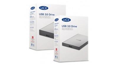 LaCie USB 3.0 External Portable HDD 1TB STHY1000800 - Silver. 2 Years Warranty