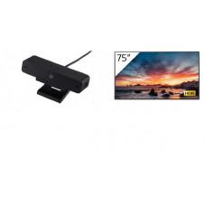 Sony Bravia TV 75 inch STD 4K (3840x2160), 17/7, HDR10/ HLG/Dolby Vision, Android HDR Pro X1, DVB-T/T2, Apple AirPlay,**BONUS**FREESony Bravia USB Camera