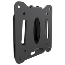 Atdec AD-30100-WF Low Profile Fixed Wall Mount, Fixed Angle Mount. Max load 30kg. VESA 75x75 100x100 120x120. Black.