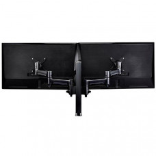 Atdec Atdec AWM Dual Monitor Arm Solution - 460mm Articulating Arms, 400mm Post, F-Cfamp, Black