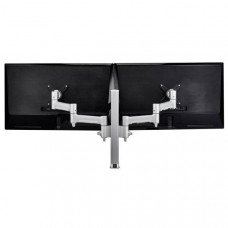 Atdec AWM Dual monitor arm solution - 460mm articulating arms - 400mm post - Grommet clamp - white