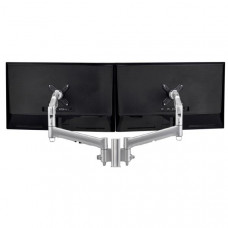 Atdec AWM Dual monitor mount solution on a 135mm post - Grommet Clamp - silver