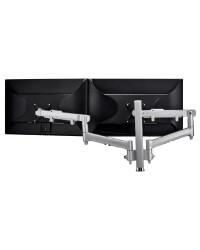 Atdec AWM Dual monitor arm solution - dynamic arms - 400mm post - bolt - silver