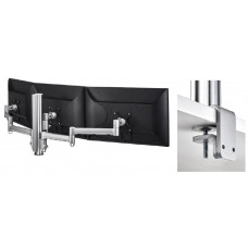 Atdec 400mm Pole and 3 x Monitor Arms w/ F Clamp