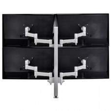 Atdec AWM Quad monitor arm solution - 460mm articulating arms - 750mm post - heavy duty clamp - white
