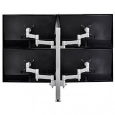 Atdec AWM Quad monitor arm solution - 460mm articulating arms - 750mm post - heavy duty clamp - black