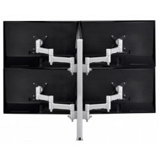 Atdec AWM Quad monitor arm solution - 460mm articulating arms - 750mm post - heavy duty clamp - silver